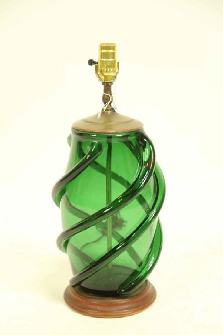 GREEN MURANO GLASS LAMP