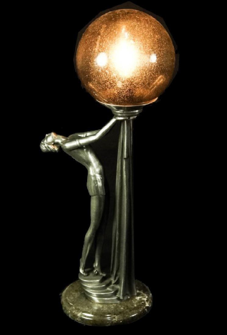 ART DECO STYLE GLASS GLOBE LAMP
