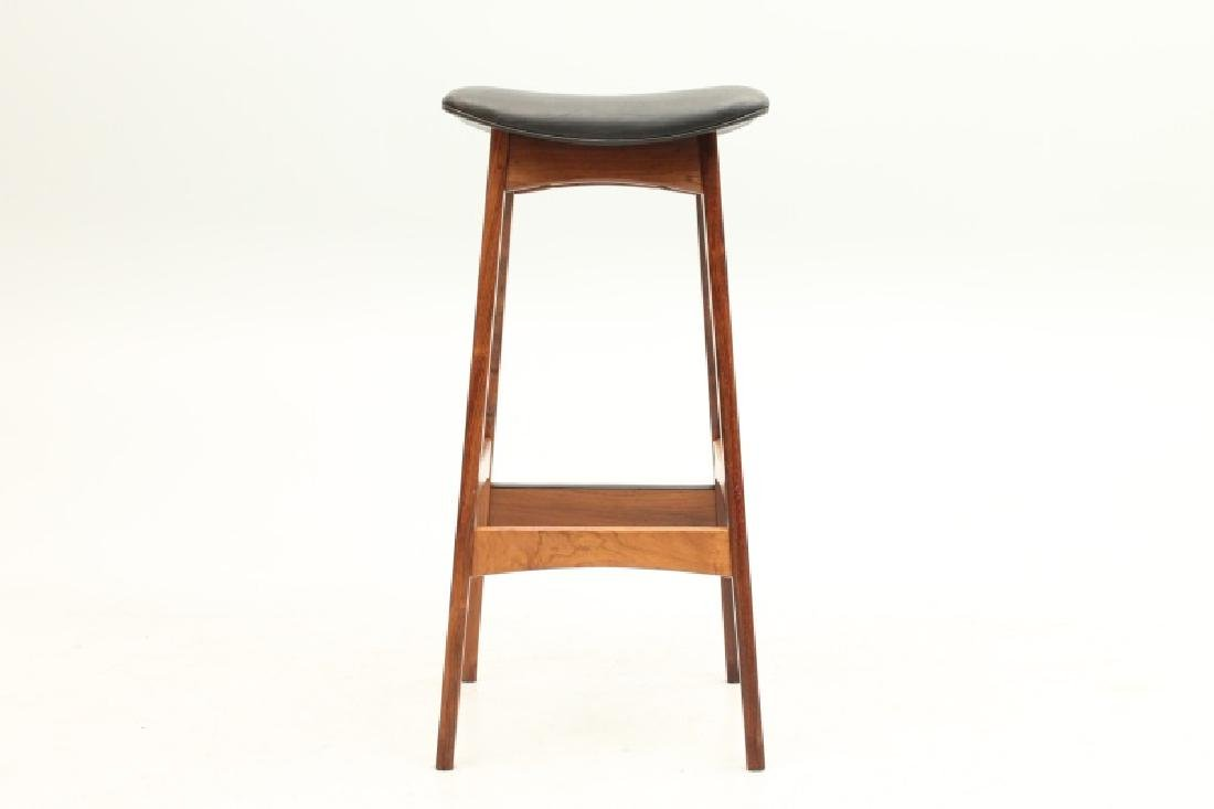 PAIR OF DYRLUND ROSEWOOD AND LEATHER STOOLS - 5