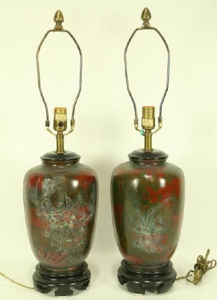 PAIR OF CHINESE PORCELAIN JAR LAMPS