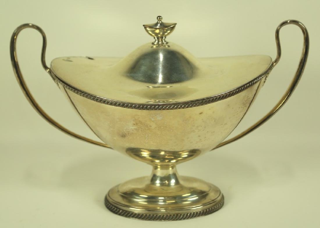 SILVER PLATED FOOTED BOWL WITH LID