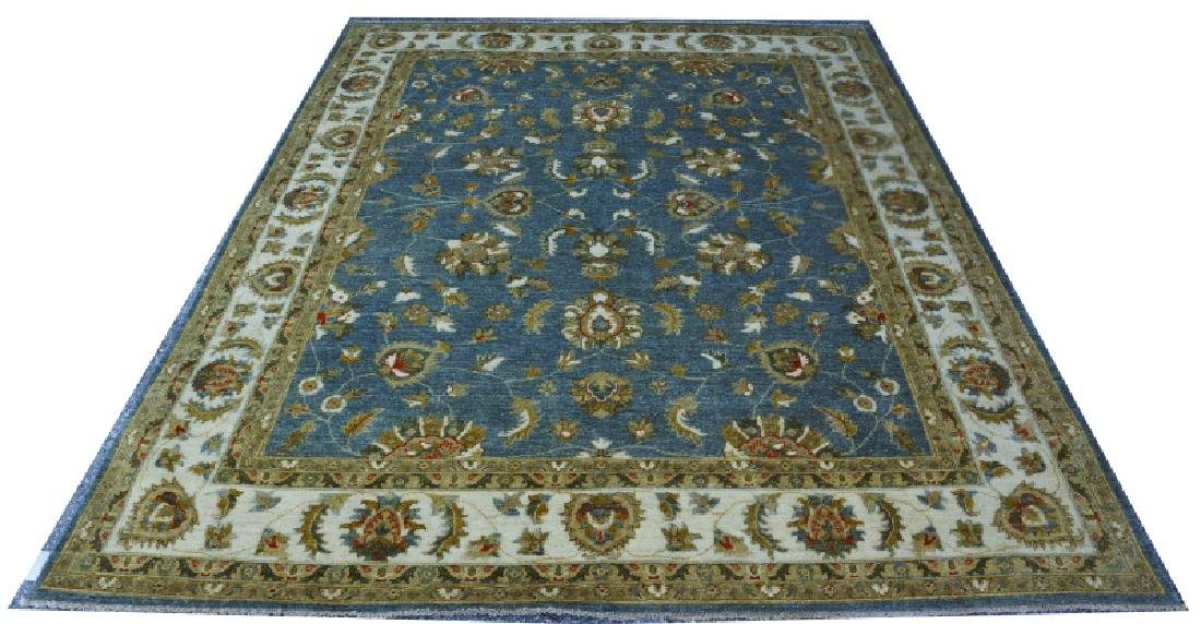 HAND KNOTTED WOOL INDO OUSHAK RUG