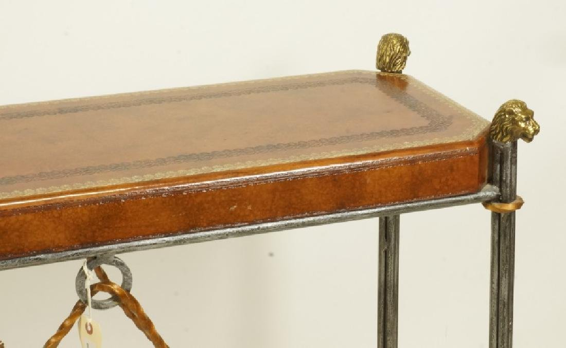 MAITLAND SMITH TOOLED LEATHER TOP SOFA TABLE - 2