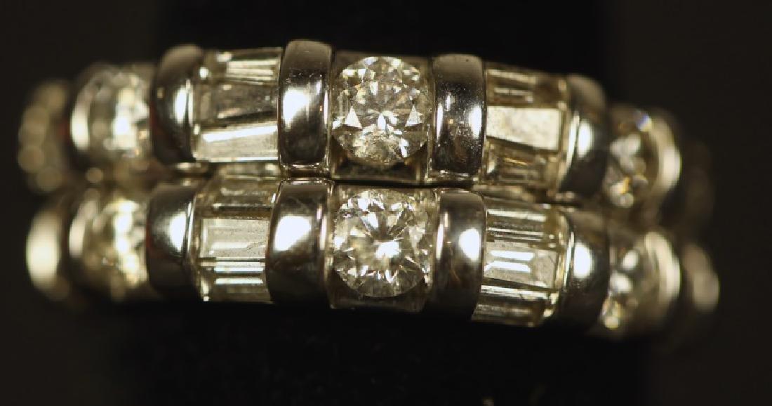 TWO SEVEN 1.25CT. DIAMOND 14KT WHITE GOLD RINGS