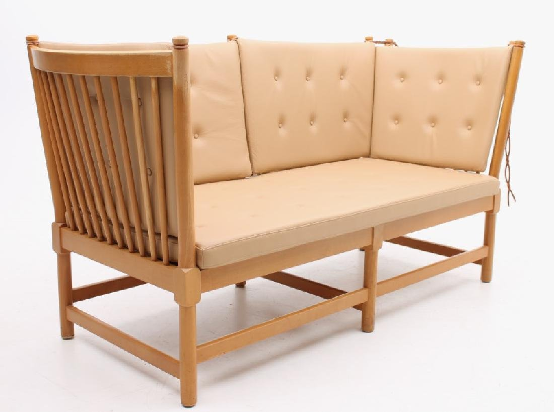 BORGE MOGENSEN DANISH MODERN LEATHER SETEE