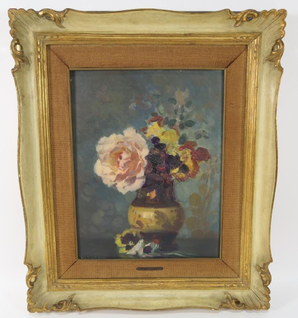 GUSTAVE LORAIN VINTAGE STILL LIFE OIL PAINTING
