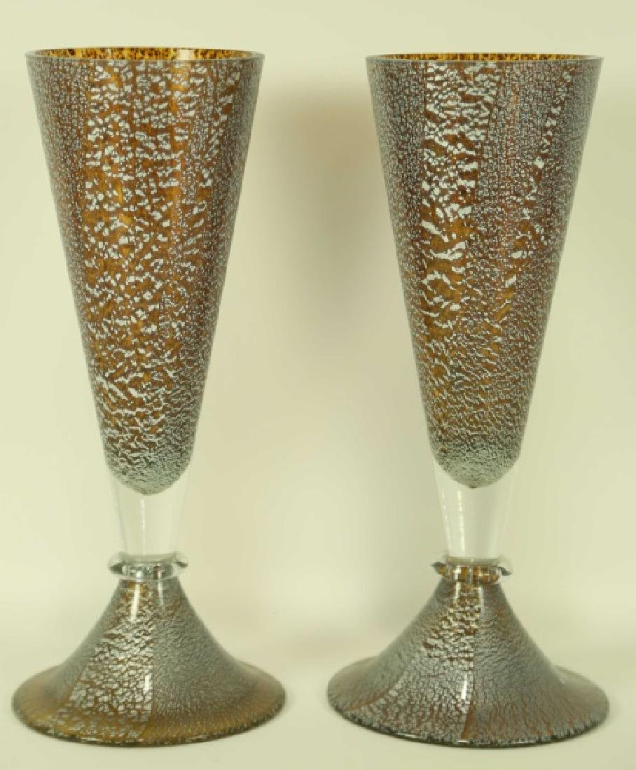 PAIR OF MURANO GLASS VASES