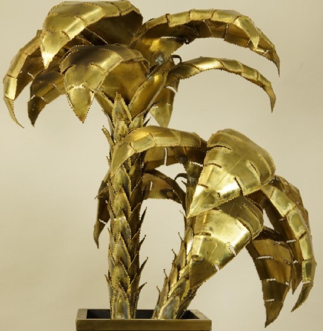 VINTAGE MAISON JANSEN BRASS PALM TREE LAMP - 3