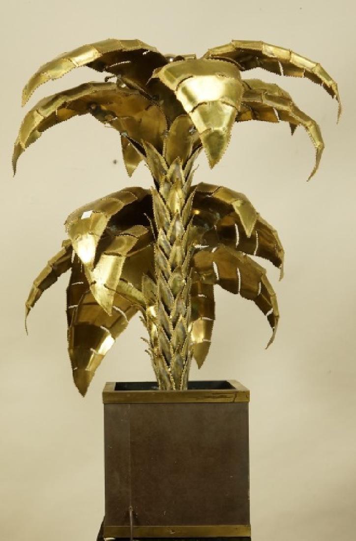VINTAGE MAISON JANSEN BRASS PALM TREE LAMP - 4
