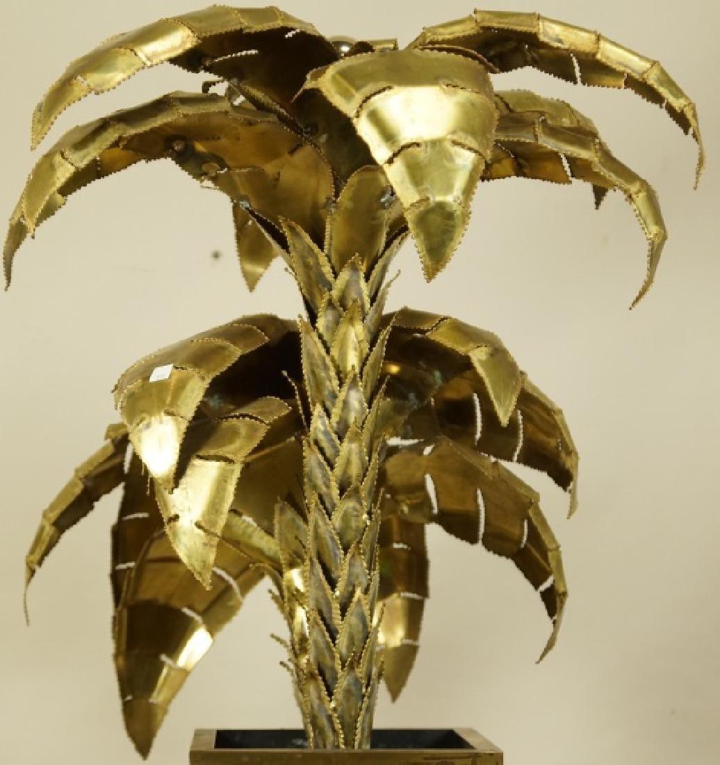 VINTAGE MAISON JANSEN BRASS PALM TREE LAMP - 5