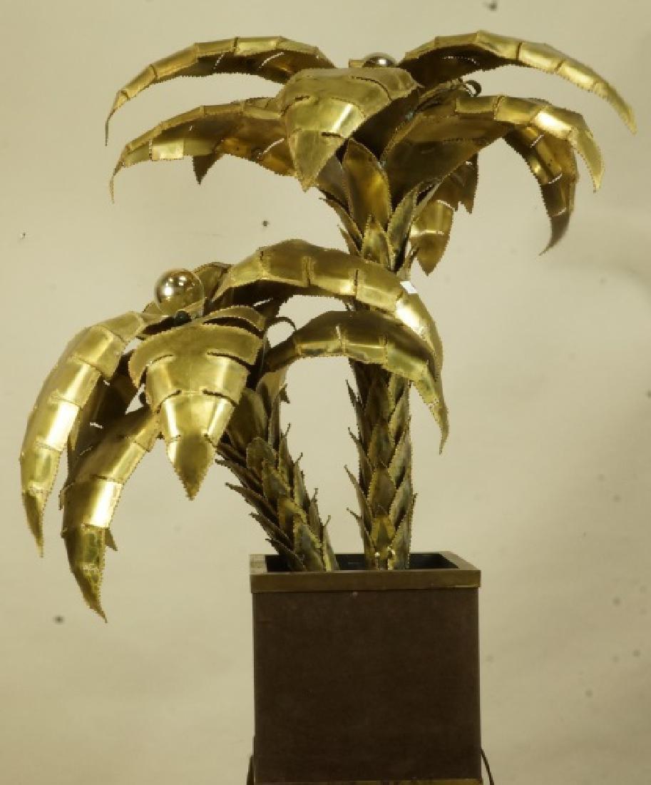 VINTAGE MAISON JANSEN BRASS PALM TREE LAMP - 6