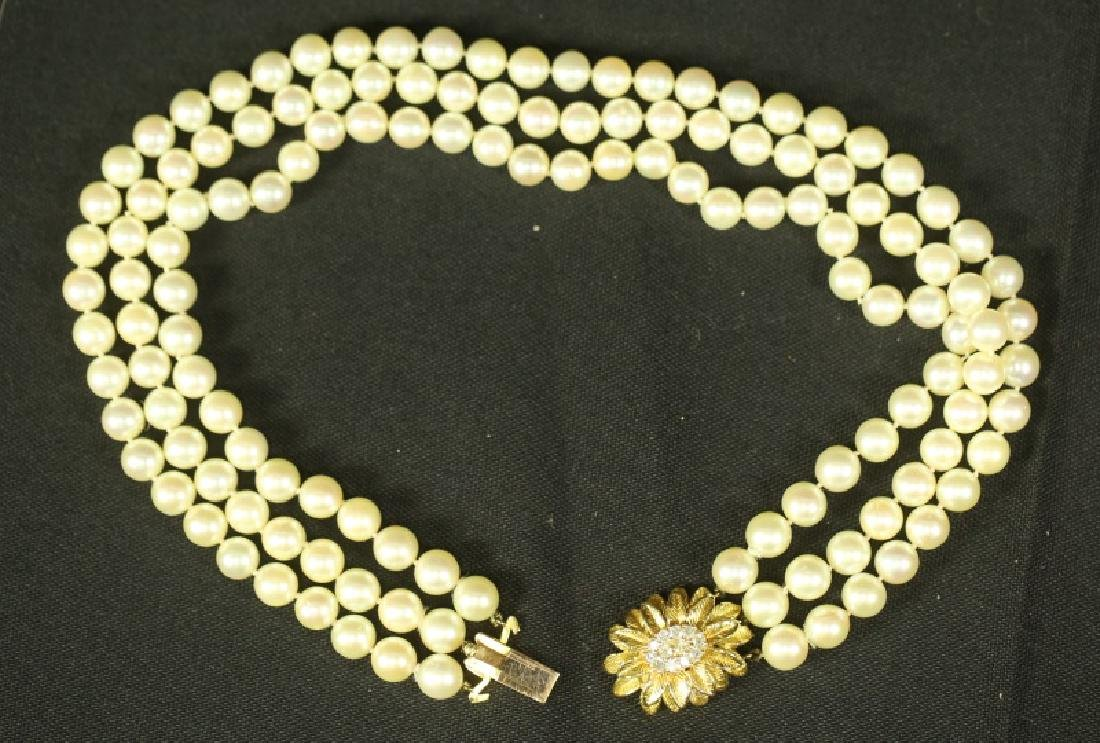 ROBERTO SIMON JAPANESE CULTURED PEARL NECKLACE