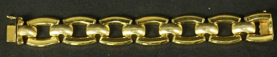 18KT YELLOW GOLD HOLLOW LINK BRACELET