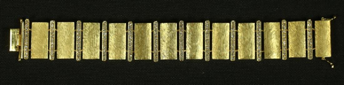 TREE BARK YELLOW GOLD & 2.5CT. DIAMOND BRACELET