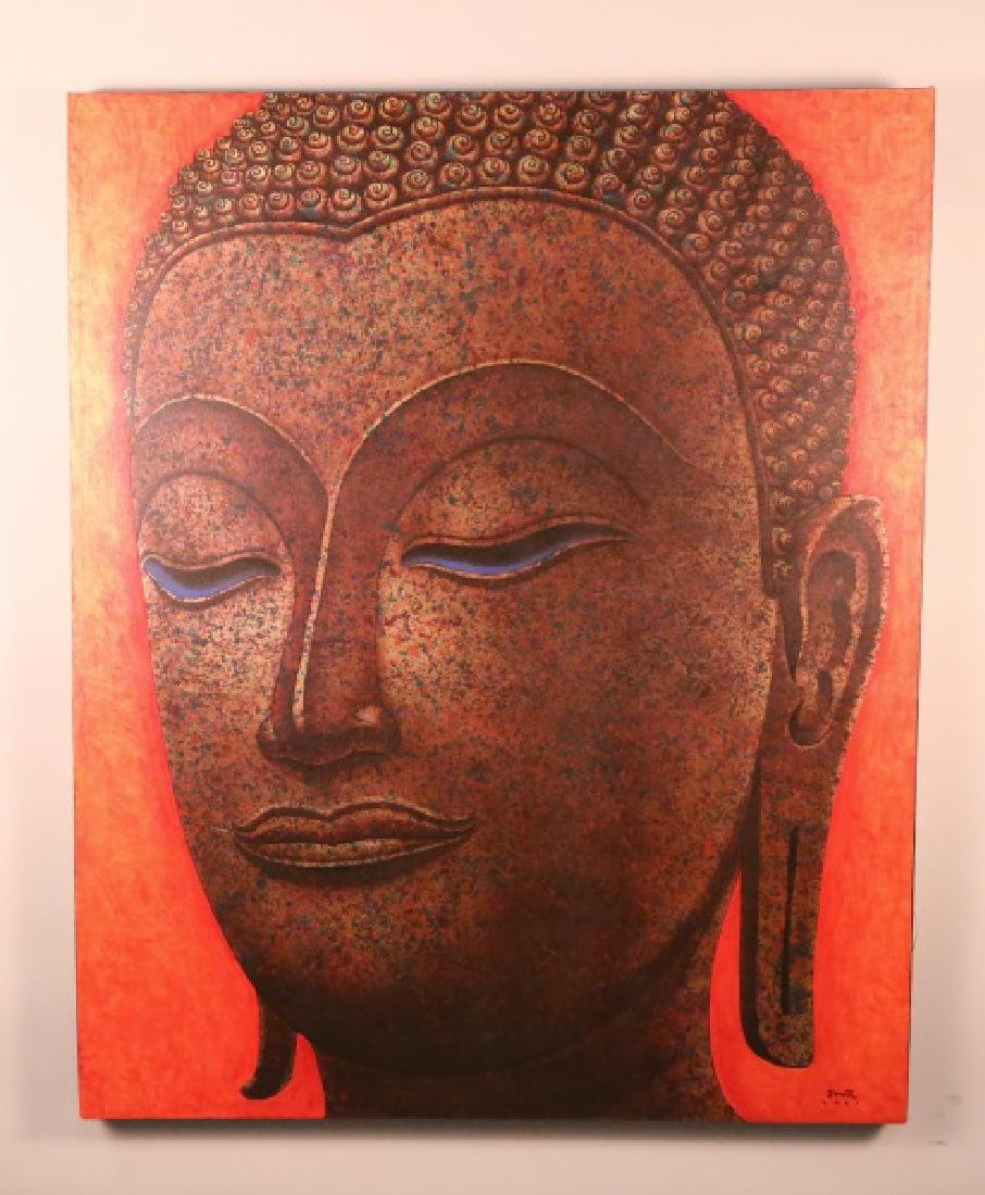 BUDDHA OIL ON CANVAS PAINTING