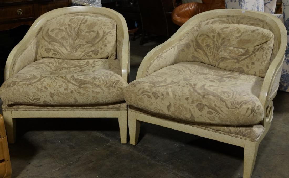 PAIR OF WELL-PROPORTIONED ARMCHAIRS