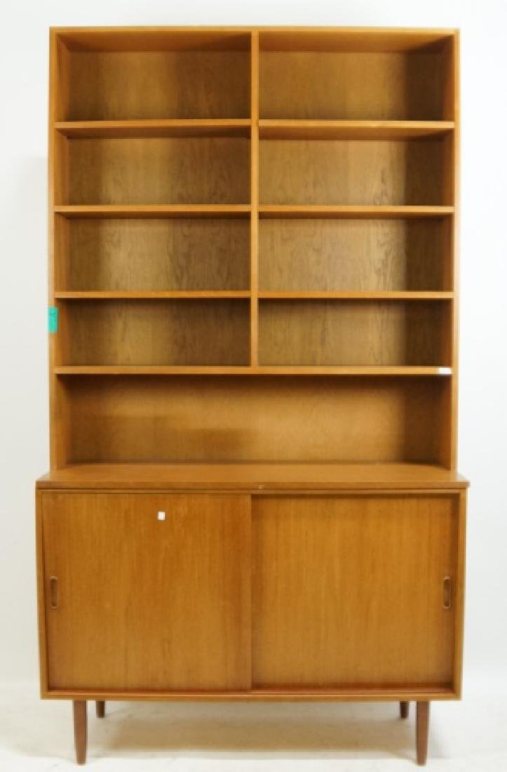 PAIR OF DANISH MODERN BOOKCASE CABINETS