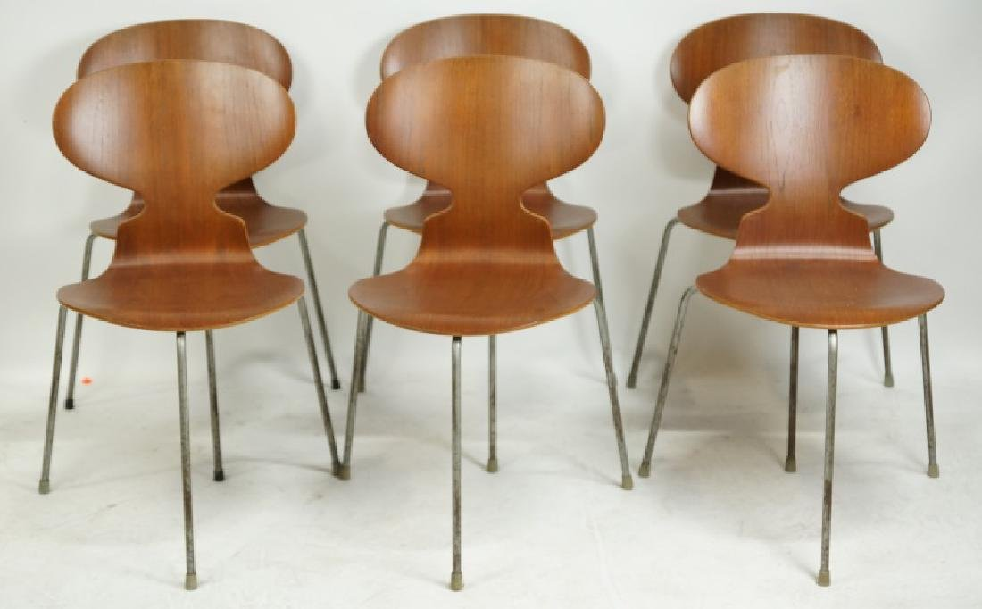 SET OF SIX MID-CENTURY MODERN SIDE CHAIRS