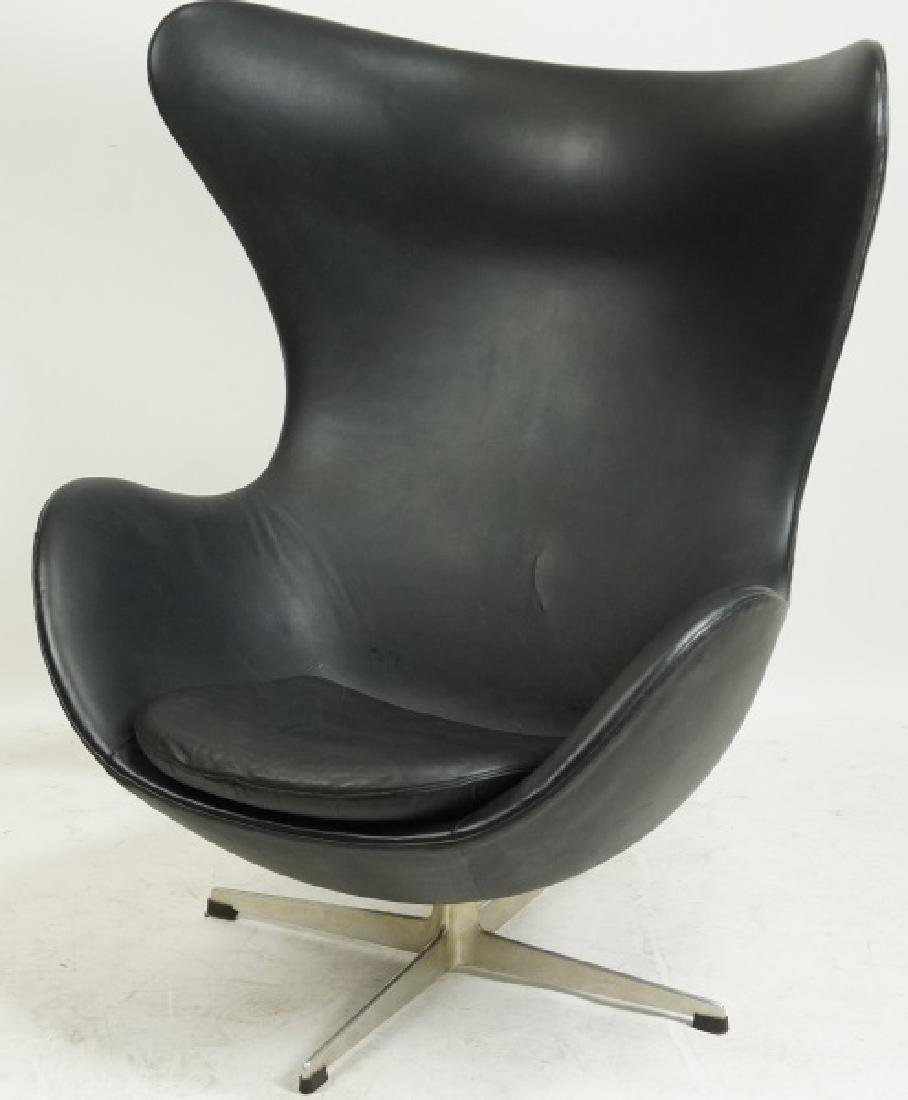 KARDIEL LEATHER EGG CHAIR