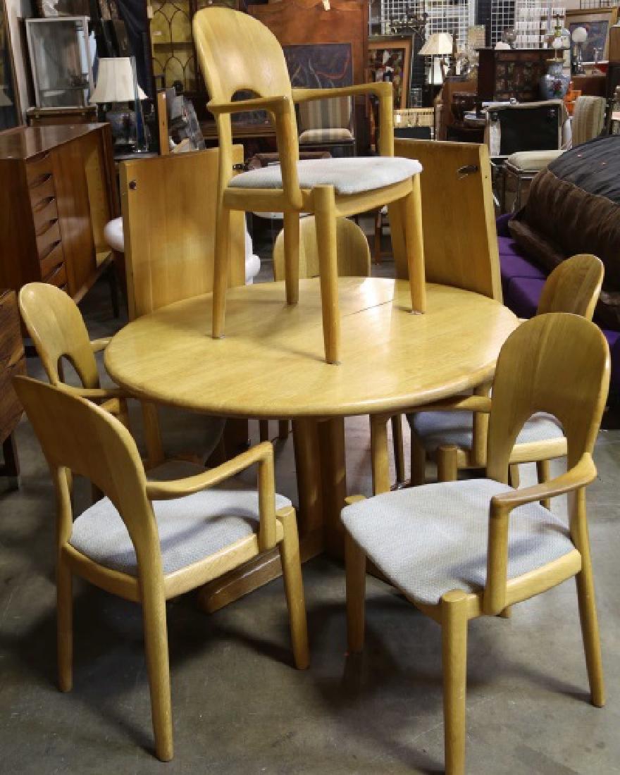 VINTAGE DANISH MODERN OAK TABLE & CHAIRS