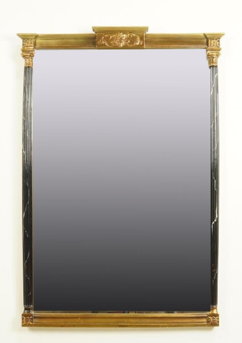 VINTAGE CARVED AND GILT FRAMED MIRROR