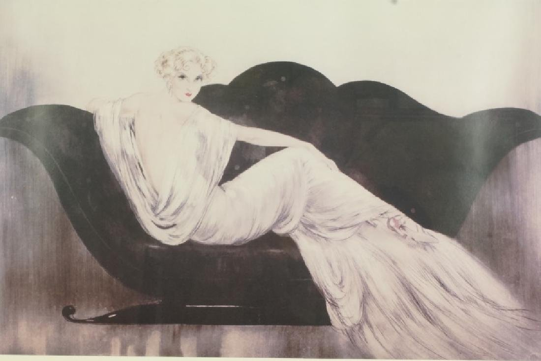 LOUIS ICART PHOTO LITHOGRAPH IN NICE FRAME