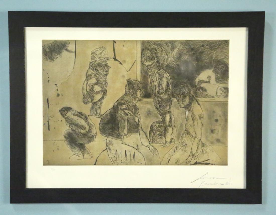"""JOSE LUIS CUEVAS, MEXICAN (1934-) """"BARCELONA, 1981"""