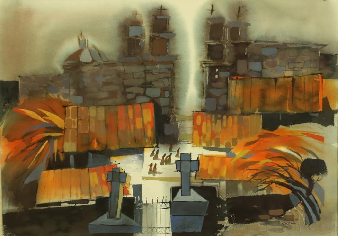 """HARWOOD SMITH """"UNTITLED"""" ABSTRACT"""