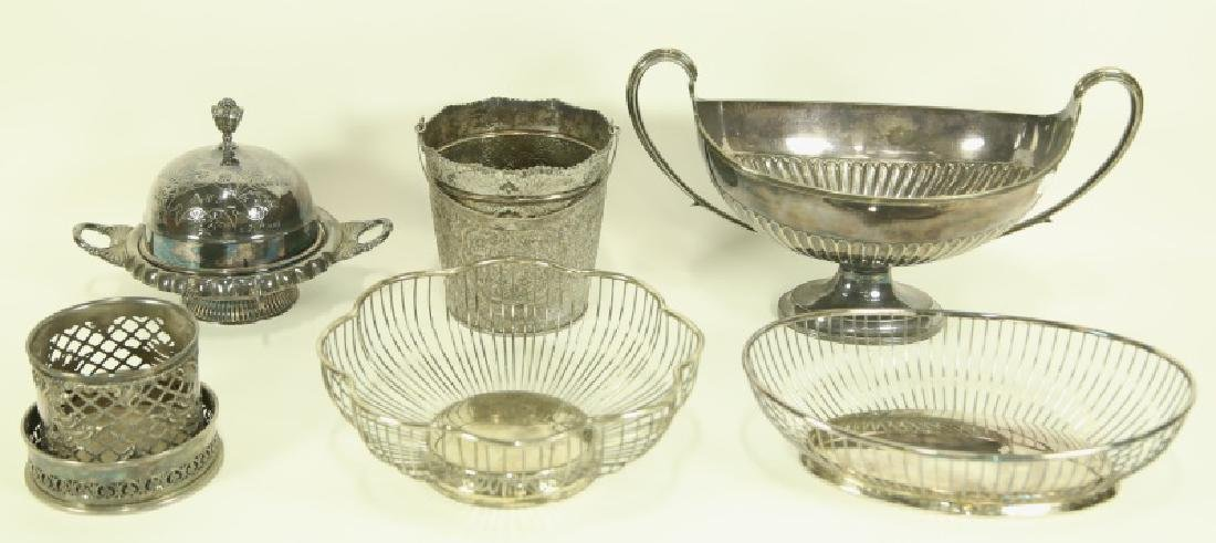 LOT OF SIX SILVER PLATED SERVING PIECES