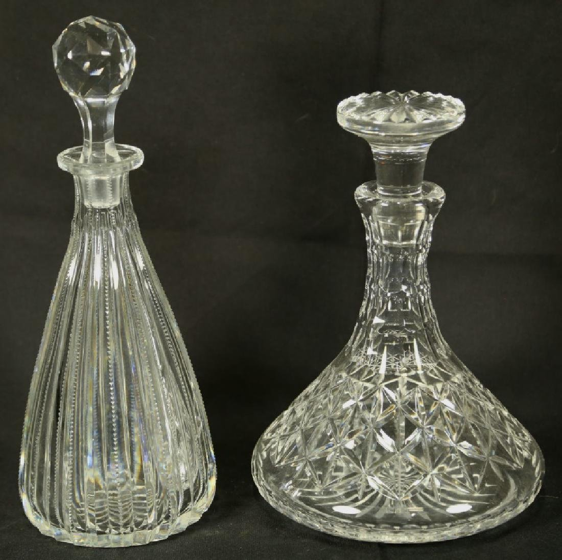 LOT OF TWO CUT GLASS DECANTERS