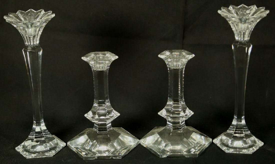 LOT OF TWO PAIR OF CANDLESTICKS