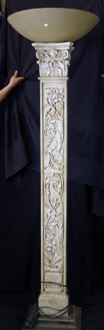TALL CAST RESIN TORCHIERE