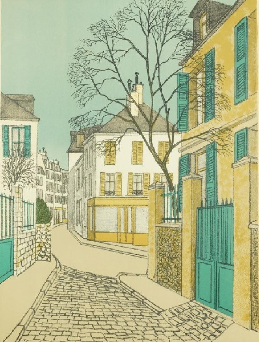 "DENIS PAUL NOYER ""UNTITLED"" TOWN SCENE PRINT"