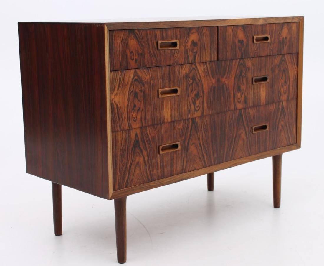 LYBY MOBEL ROSEWOOD CHEST OF DRAWERS, C. 1965-1970