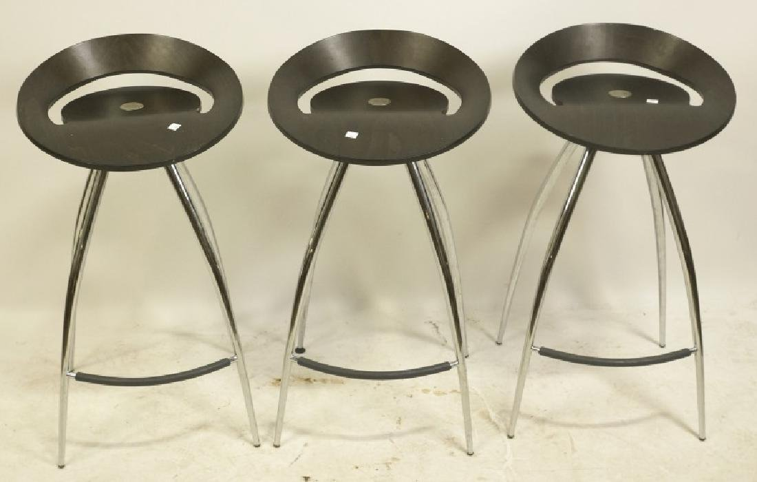 SET OF THREE MAGIS LYRA BARSTOOLS