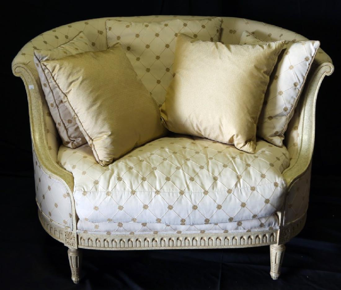 MARGE CARSON NEOCLASSICAL STYLE ARMCHAIR