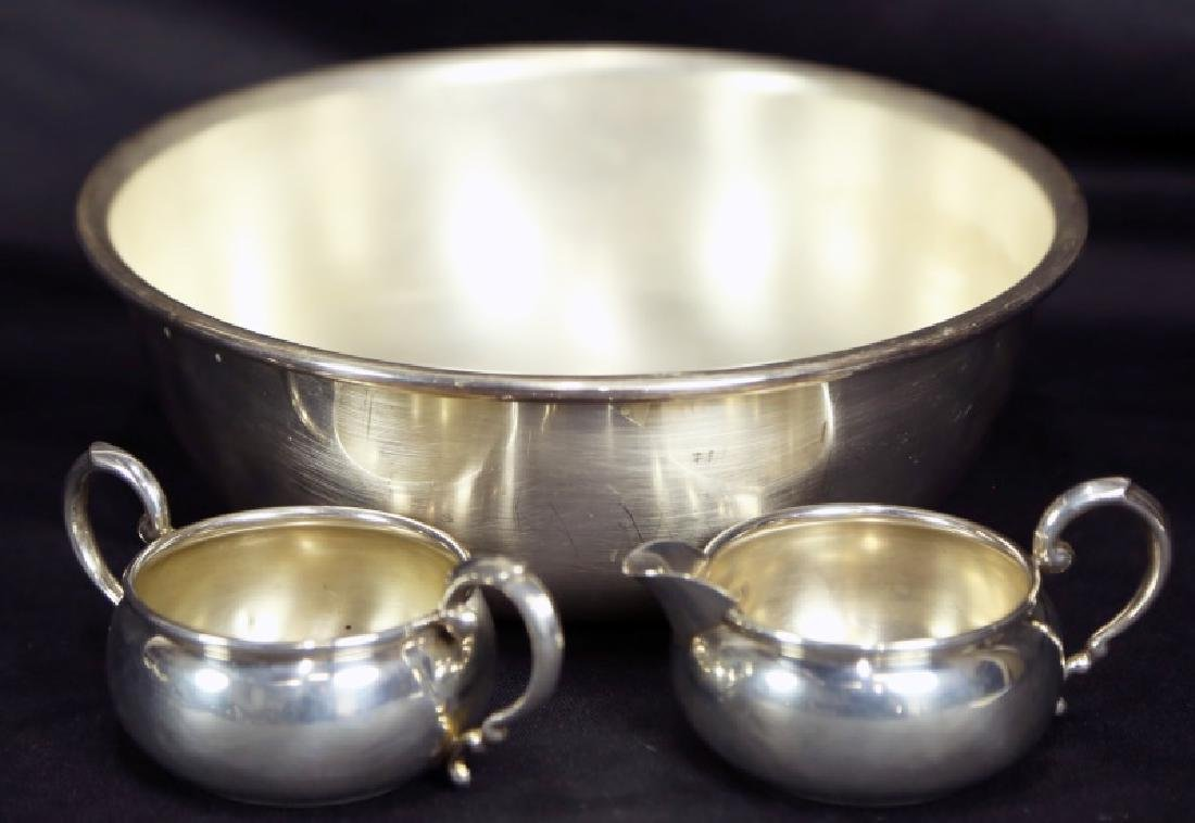 LOT OF THREE SILVER PLATED BOWLS