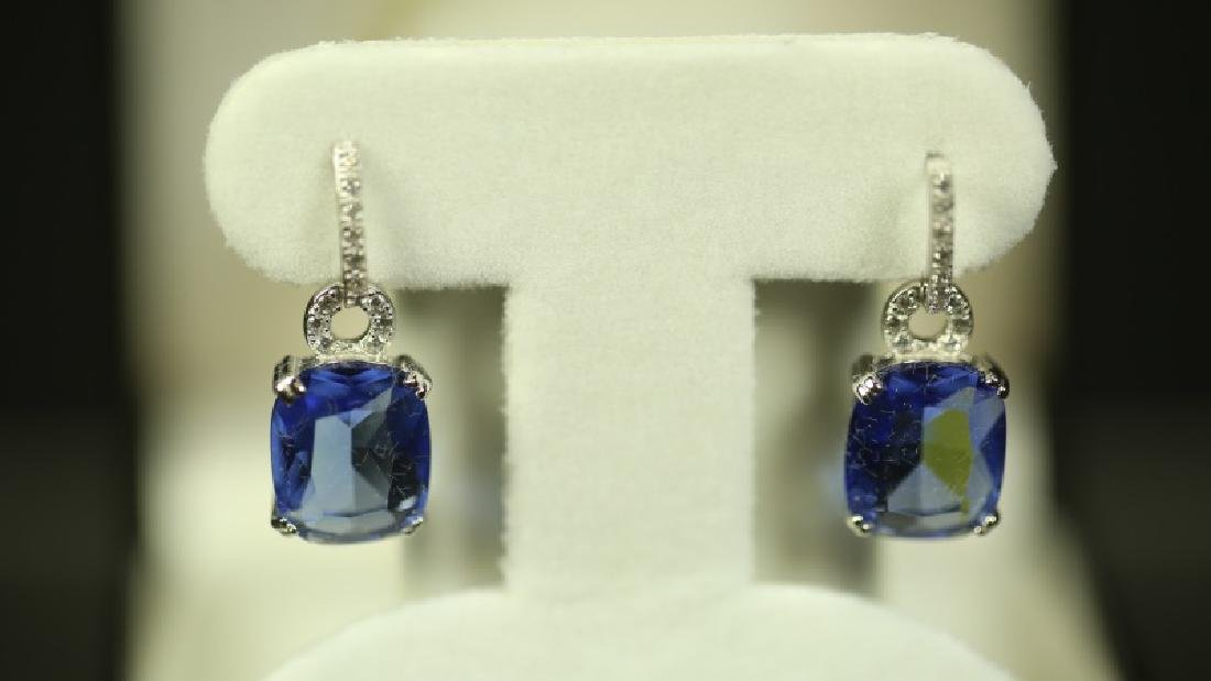 (3) 4 Ct. TANZANITE EARRINGS