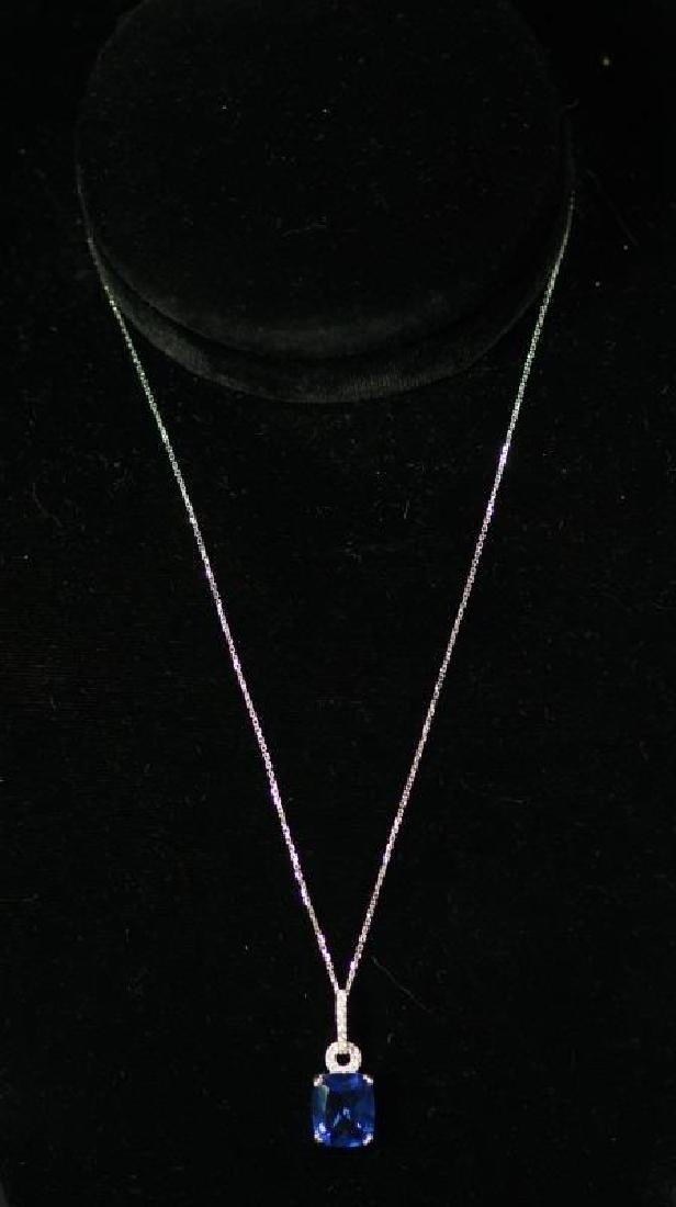 (4) MATCHING TANZANITE NECKLACE