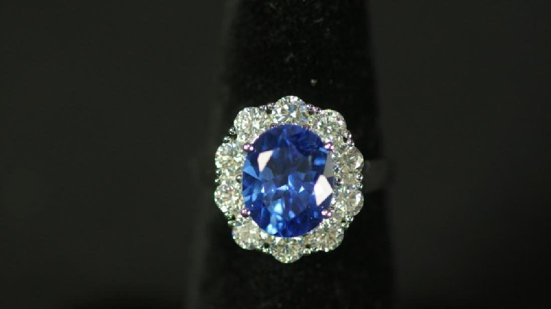 "25(9) 3.88 Ct. ""LADY DIANA"" TANZANITE RING"
