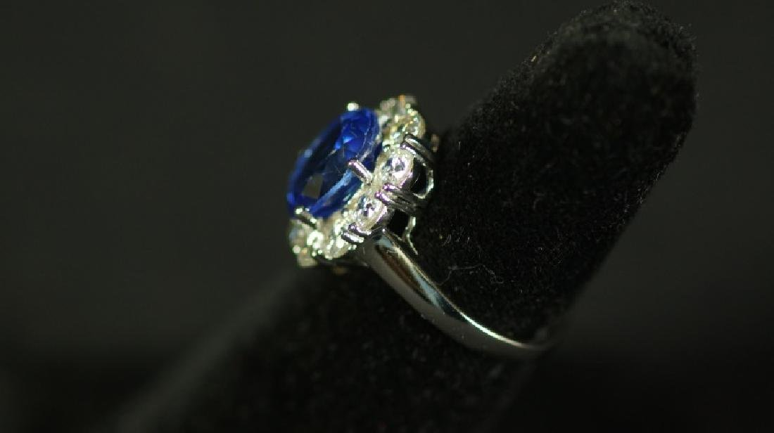 "25(9) 3.88 Ct. ""LADY DIANA"" TANZANITE RING - 2"