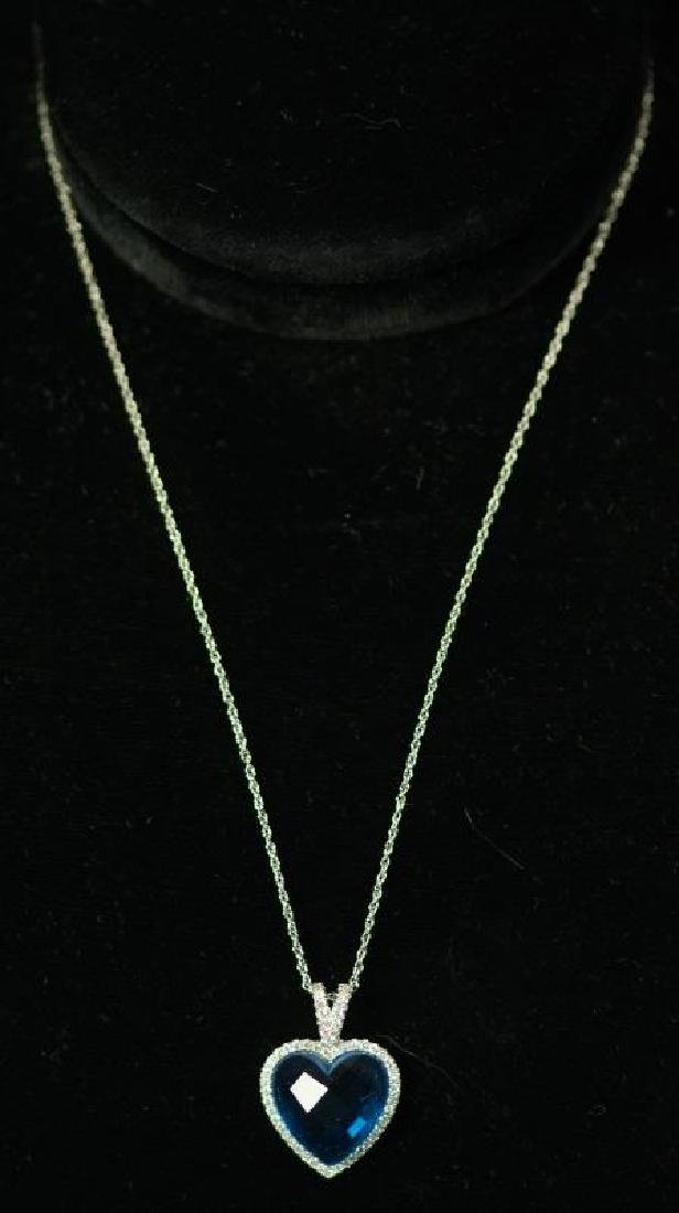 (13) BLUE TOPAZ SWEETHEART NECKLACE
