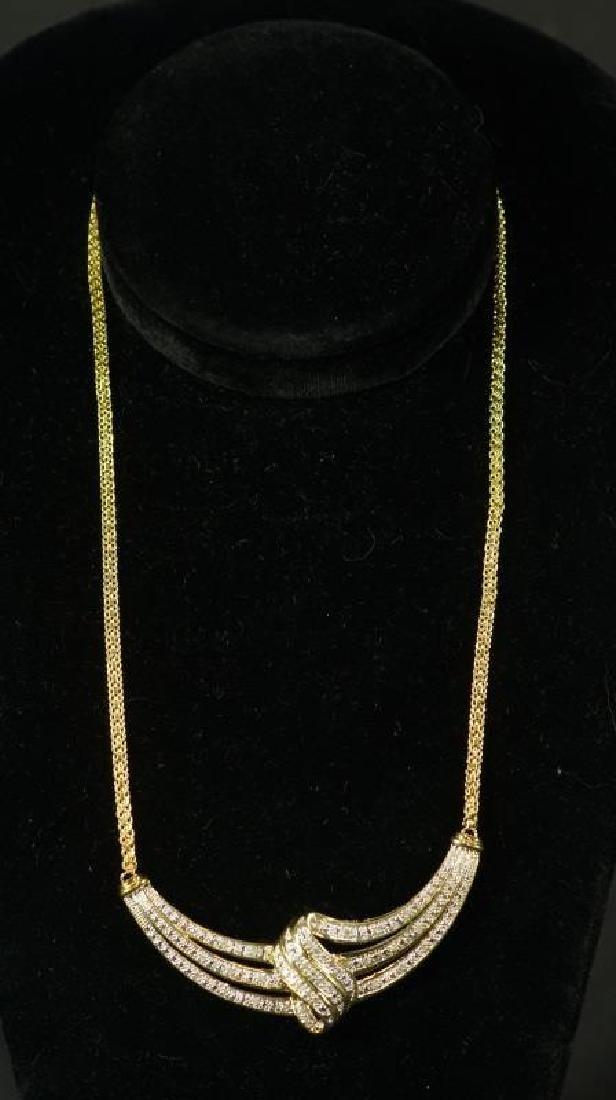 (17) LARGE DIAMOND ESTATE NECKLACE