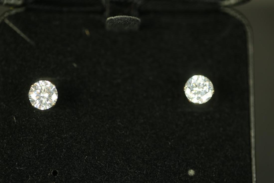 (18) 3 Ct. WHITE SAPPHIRE SOLITAIRE EARRINGS - 2