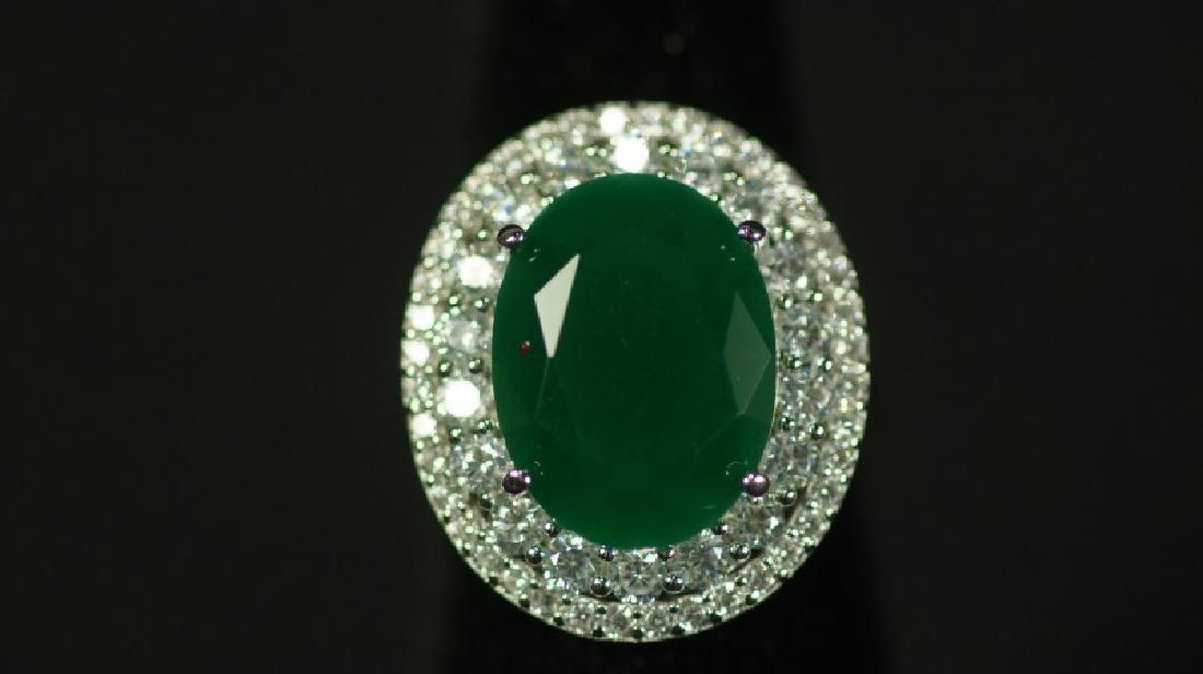 (19) 8.12 Ct. EMERALD DINNER RING