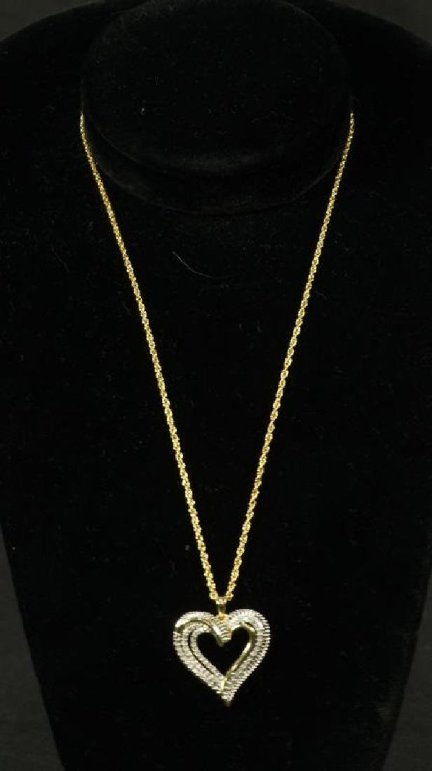 (20) LARGE DIAMOND HEART NECKLACE