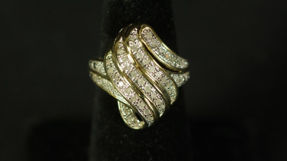 (22) LARGE DIAMOND DINNER RING