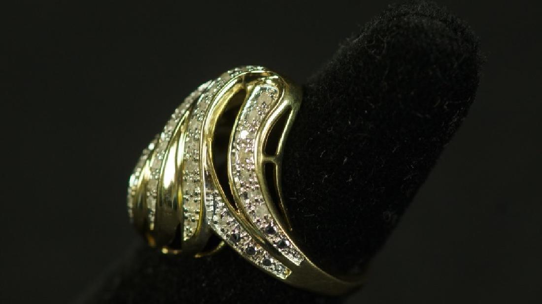 (22) LARGE DIAMOND DINNER RING - 2
