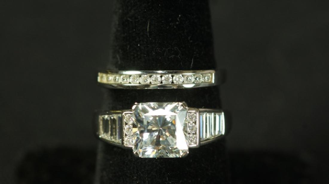 (23) 3.59 Ct. PRINCESS CUT WHITE SAPPHIRE WEDDING