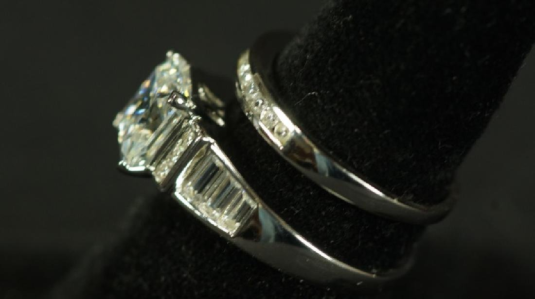 (23) 3.59 Ct. PRINCESS CUT WHITE SAPPHIRE WEDDING - 2